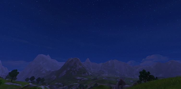 The beautiful night sky of Jorvik!