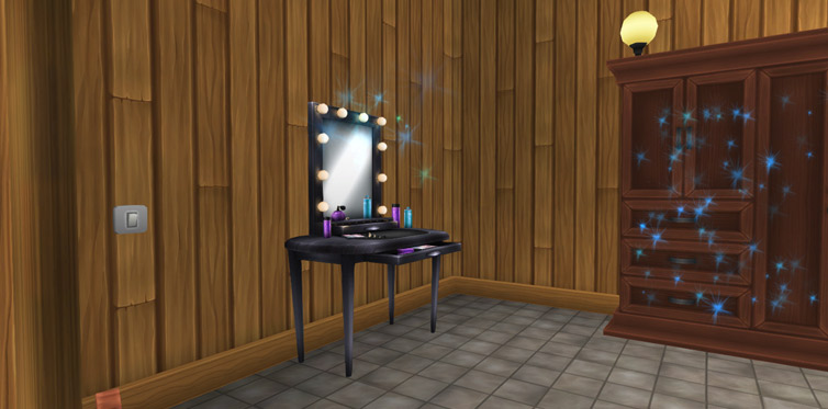 All your styles are saved in your vanity table!