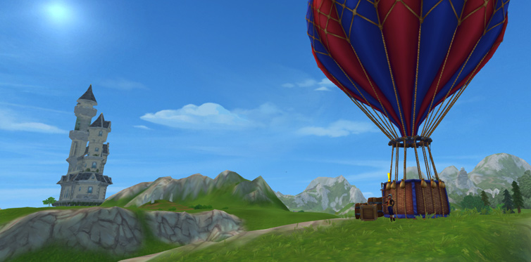 Meet Mica at her hot air balloon...