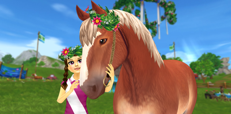 Midsummer wreaths for you AND your horse!