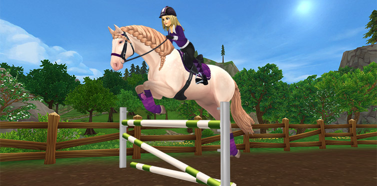 Join the fun show jumping race!