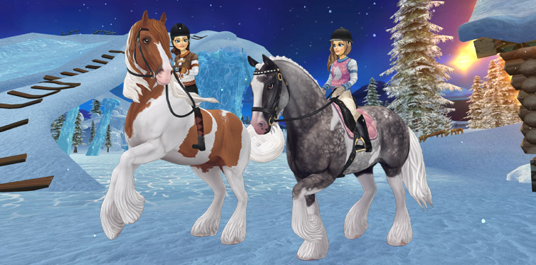 Ride into winter together with this beautiful steed!