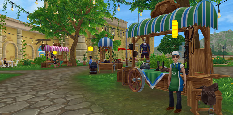 Explore the shops to see where you'll find your favorite items!