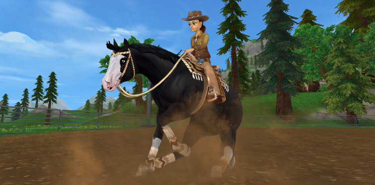 Newly arrived at Starshine Ranch - the Quarter Horse!