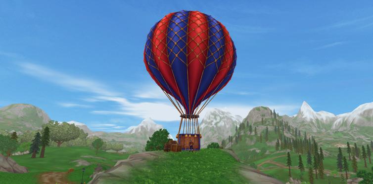 Mød Mica ved hendes luftballon ...