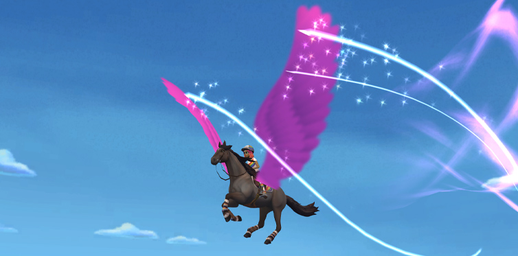 Discover a magical world with your horse!