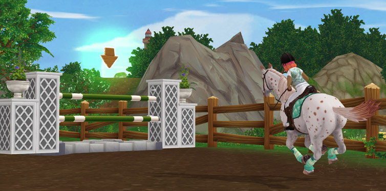 Play Linda's fun show jumping course!