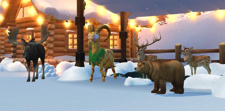 Leih dir im Winterdorf ein Reittier aus!