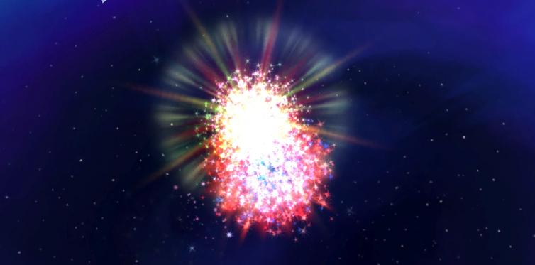 Erleuchte den Himmel mit Feuerwerk