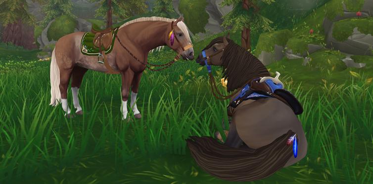 Använd de här fjädriga dekorationerna för att visa vilken flock din häst tillhör!
