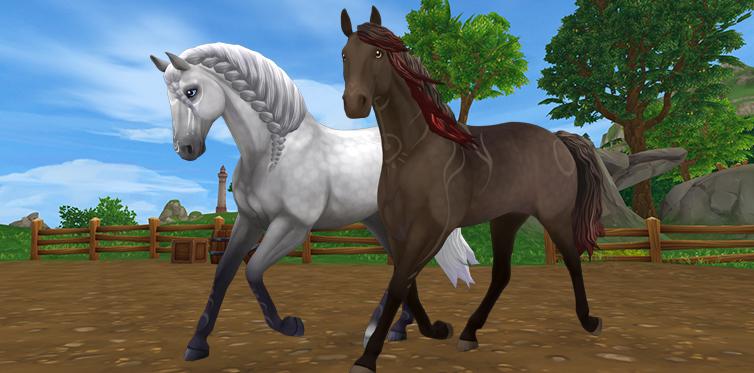 Az ayla és az umbra lovak ugyanolyan szépek hétköznapi szőrükkel...