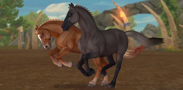 В обычной жизни они напоминают фризских лошадей...