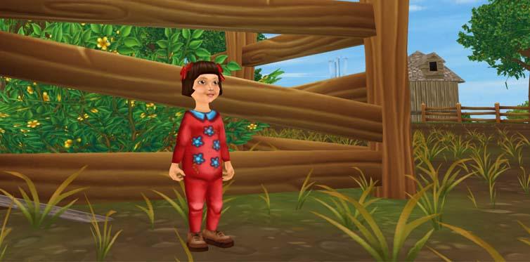 Triff Lizzy an der Koppel auf der Koppel-Insel, und der Spaß kann beginnen!