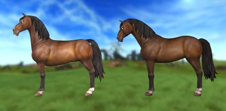 Första tjuvkiken på den uppdaterade hästen bredvid den nuvarande!
