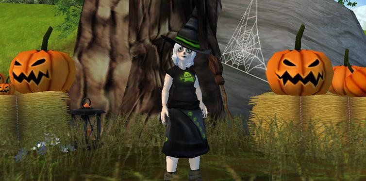 Hjälp Fae för att få en ny Halloweendräkt!