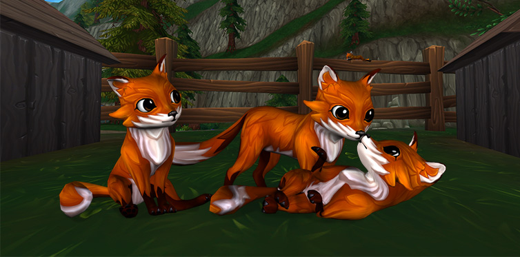 A fox in a stable