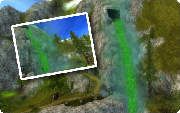 Varför är vattenfallet grönt?!