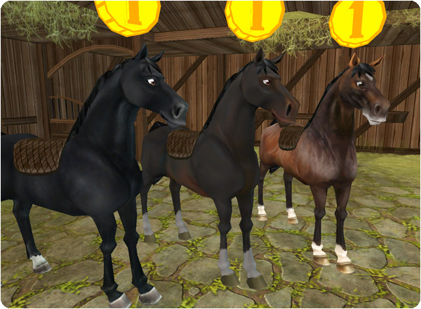 Fina hästar i stallet!